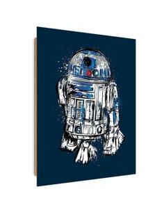 Tableau little droid imprimé sur bois