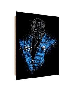 Tableau blue ninja warrior imprimé sur bois