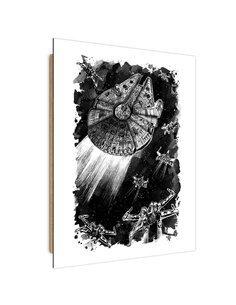 Tableau Falcon Star imprimé sur bois