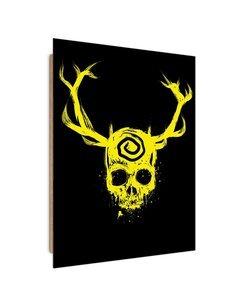 Tableau Skull imprimé sur bois