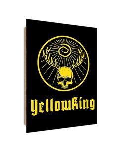 Tableau yellow Skull King imprimé sur bois