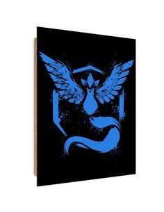 Tableau Blue Phoenix imprimé sur bois