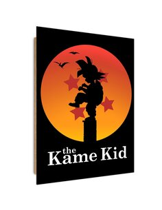 Tableau manga, dragon kid imprimé sur bois