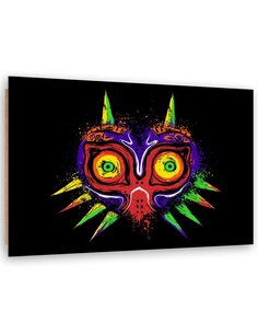 Tableau Exotic devil imprimé sur bois