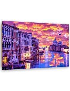 Tableau balloons over Venice imprimé sur bois