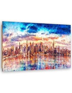 Tableau the Storm and New York imprimé sur bois