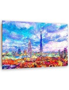 Tableau Color Dubai imprimé sur bois