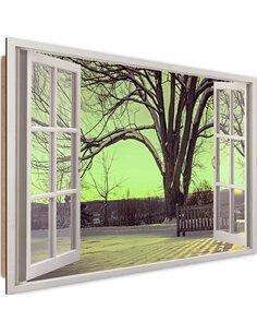 Tableau snow-covered tree imprimé sur bois