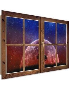 Tableau view of the moon imprimé sur bois