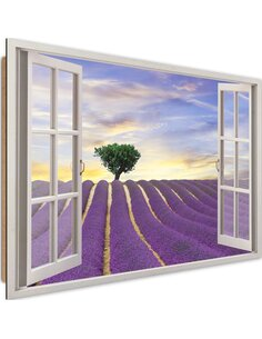 Tableau lavender field imprimé sur bois