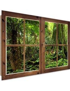 Tableau tropical forest imprimé sur bois