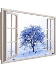 Tableau snow-covered tree 2 imprimé sur bois
