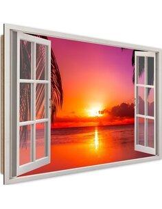 Tableau sunset imprimé sur bois