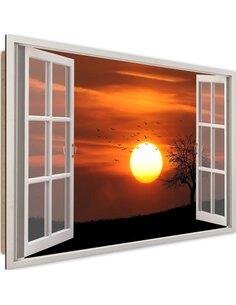 Tableau sunset 2 imprimé sur bois