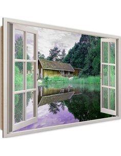 Tableau overwater bungalow imprimé sur bois