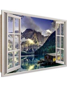 Tableau mountain landscape imprimé sur bois