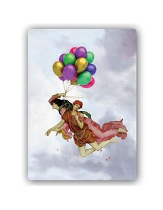 Plaque acier décorative Balloon Flight