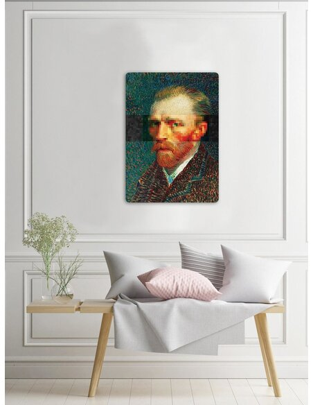 Plaque acier décorative Van Gogh Portrait