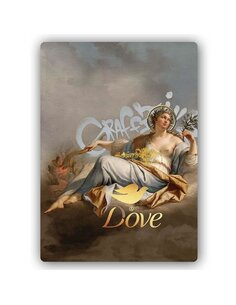 Plaque acier décorative Peace And Love