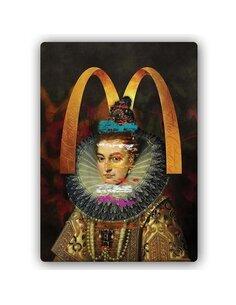 Plaque acier décorative Woman In Lace Ruff
