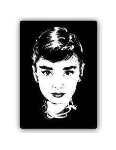 Plaque acier décorative Pop Art Star