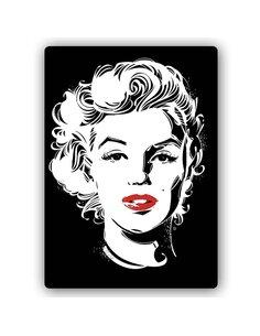 Plaque acier décorative Known Actress Pop Art