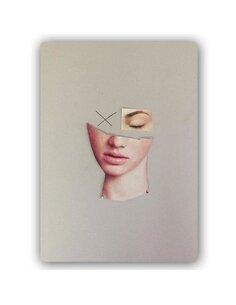 Plaque acier décorative Collage Woman's Face