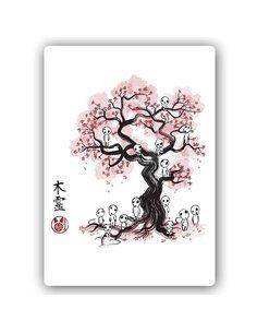 Plaque acier décorative Manga Forest Spirits
