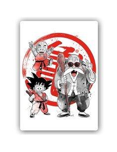 Plaque acier décorative Manga Little Warriors