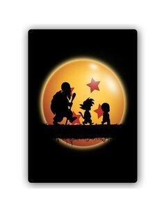 Plaque acier décorative Manga Three Wanderers