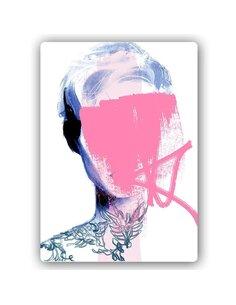 Plaque acier décorative Woman Without A Face