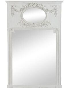 Miroir ovale et rectangulaire fleur EVEVE