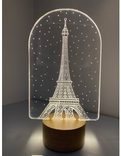 Lampe Bulbing TOUR EIFFEL PARIS 3D