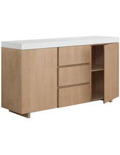 Buffet design ZEN 2 portes 3 tiroirs