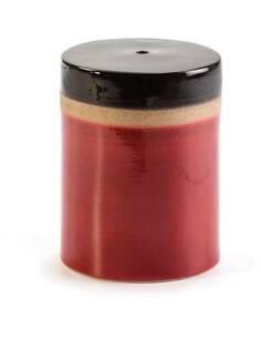 Tabouret 33x33x43 Céramique Rouge/Crème/Noir