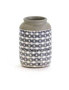 Vase 17x17x26 Céramique Bleu/Blanc/Gris
