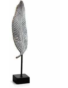 Figure 10x9x46 Métal Noir/Résine Noir/Gris/Doré