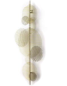 Sculpture 46x5x114 Métal Doré