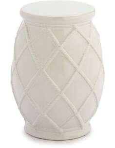 Tabouret 35x35x46 Céramique Blanc