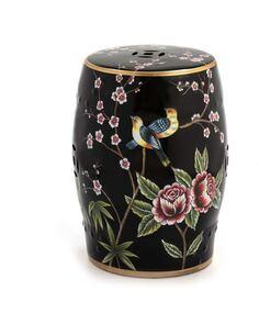 Tabouret 34x34x45 Céramique Noir/Multicouleur