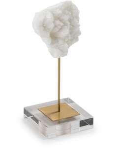 Figure 9x9x29 Méthacrylate/Métal Doré/Pierre Blanc