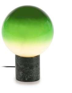 Lampe de Table 25x25x37 Verre Blanc/Vert/Marbre Vert