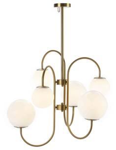 Lampe d'architecte 78x78x100 Verre Blanc/Métal Doré