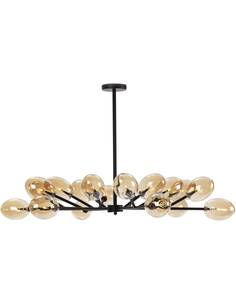 Lampe d'architecte 130x130x74 Verre Ambre/Métal Noir