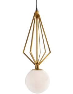 Lampe d'architecte 23x23x68 Verre Blanc/Métal Doré