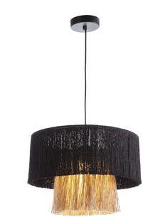 Lampe d'architecte avec abat-jour 40x40x28 Jute Naturel/Toile Noir