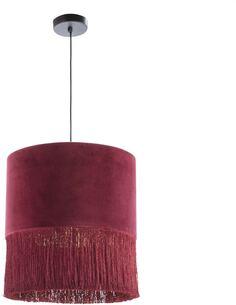 Lampe d'architecte avec abat-jour 40x40x43 Velours Rouge