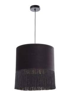 Lampe d'architecte avec abat-jour 40x40x43 Velours Noir