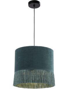 Lampe d'architecte avec abat-jour 35x35x32 Toile Vert