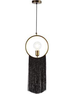 Lampe d'architecte 27x4x30 Métal Doré/Toile Noir